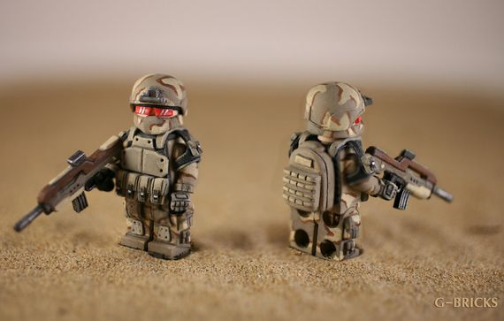 Desert Future Soldier Custom Minifigure