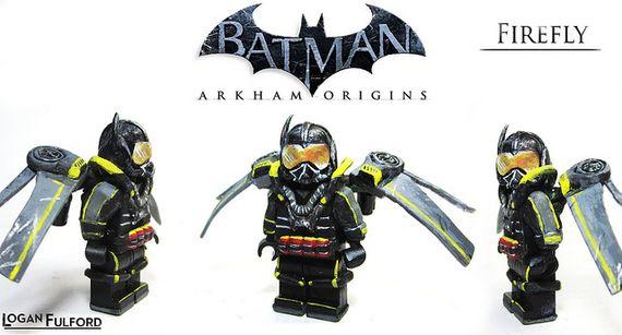 Firefly Arkham Origins Custom MinifigureFirefly Batman Lego