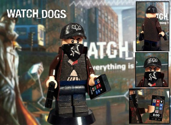 Watch Dogs Aiden Pearce Custom Minifigure