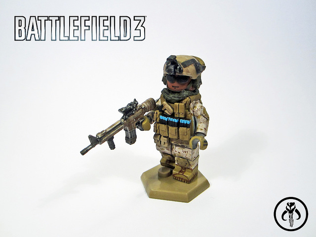Battlefield 3 Assault Class Custom Minifigure