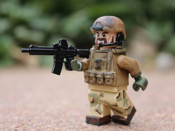 Desert Military Combat Custom Minifigure