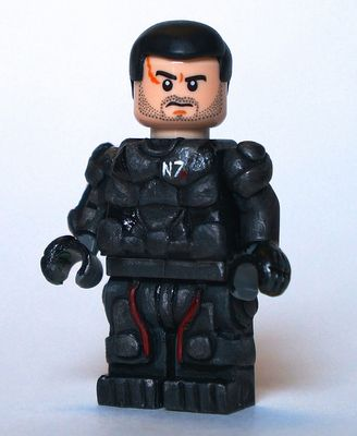 Shepard Mass Effect Custom Minifigure