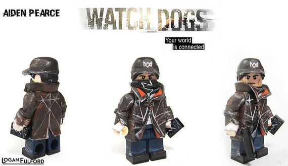 Aiden Pearce Watch Dogs Custom Minifigure