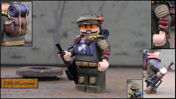 Post-Apoc Mercenary Custom Minifigure