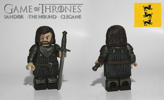 Game of Thrones Sandor The Hound Clegane Custom Minifigure