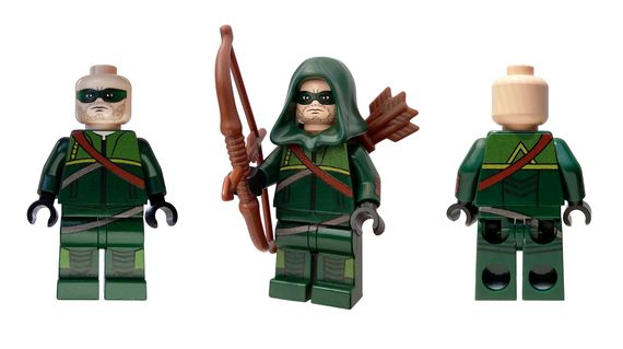Emerald Archer Custom Minifigure Back