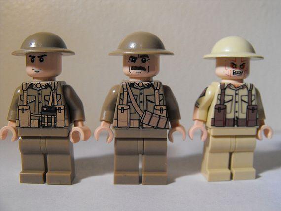 United Bricks British Combat Minifigures