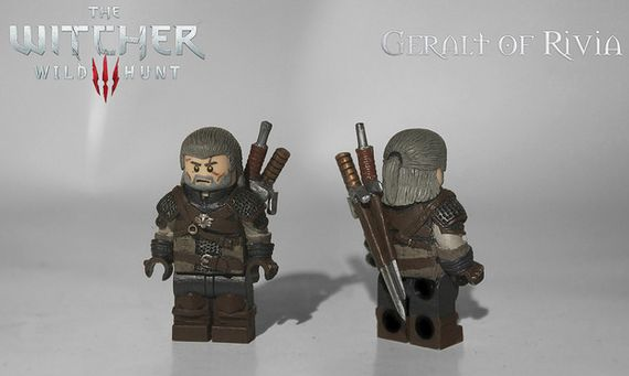 The Witcher 3 Wild Hunt - Geralt of Rivia Custom Minifigure