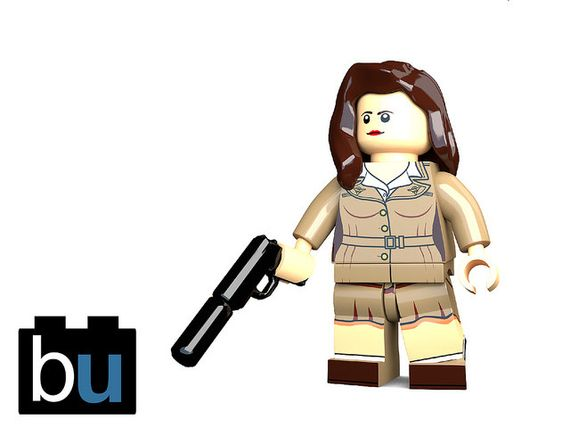 Agent Carter Custom Minifigure Render