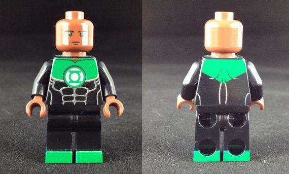 John Stewart Green Lantern Custom Minifigure