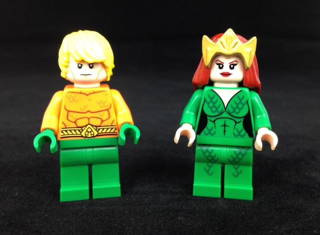 Mera Custom Minifigure & LEGO Aquaman Minifigure