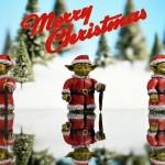 Merry Christmas Yoda Custom Minifigure