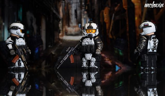 Augmented Soldier Custom Minifigure