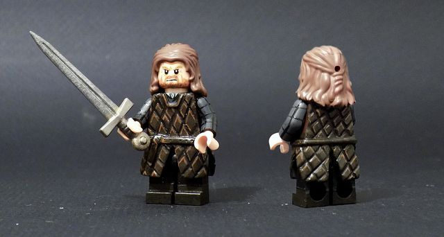 Lord Eddard Ned Stark Custom Minifigure