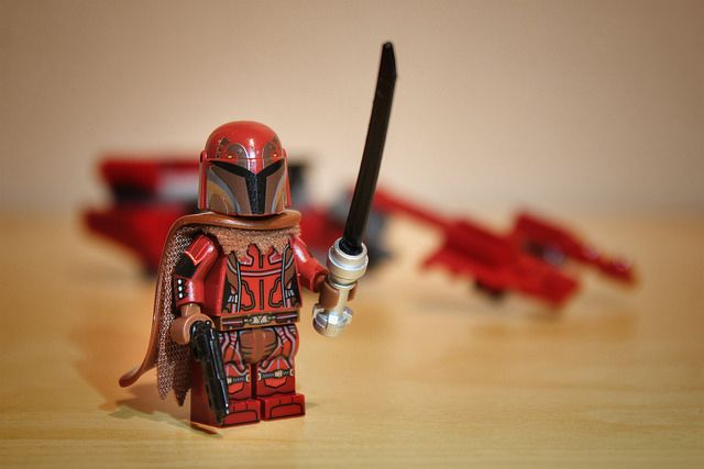 Red Mandalorian Custom Minifigure