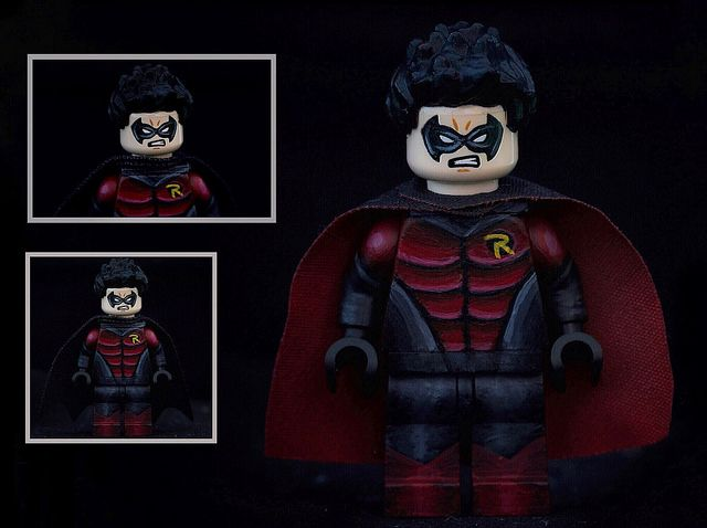 Robin Tim Drake Painted Custom Minifigure