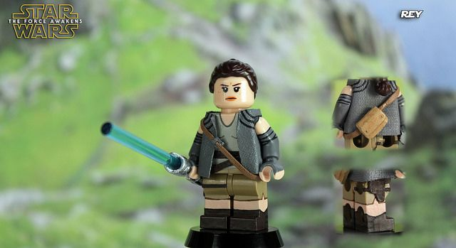The Force Awakens Rey Custom Minifigure