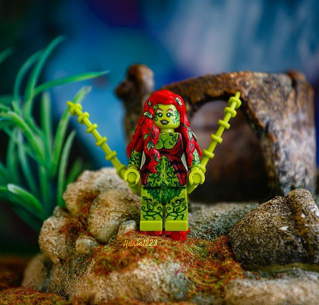 Poison Ivy Painted Custom Minifigure