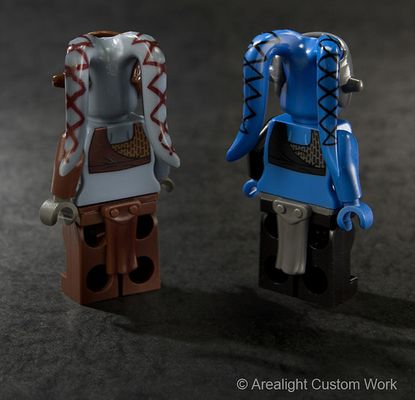 Twi'lek Custom Minifigure Rear Printing