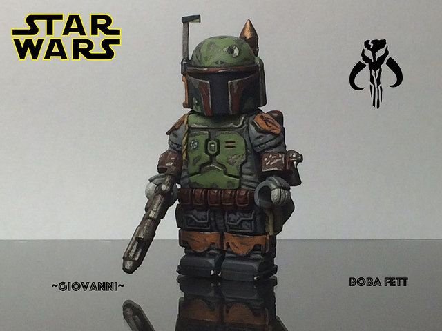 Boba Fett Painted Custom Minifigure