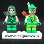 CyclopsBricks Campy Quiver & Verde Vigilante Custom Minifigures