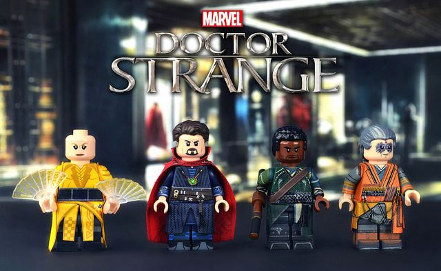 Doctor Strange Painted Custom Minifigures
