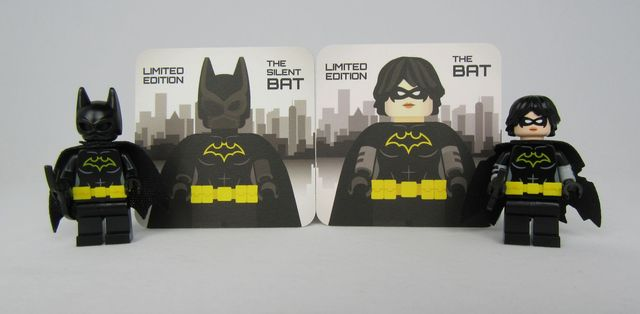 Bat Bricks The Silent Bat and The Bat Collectors Cards