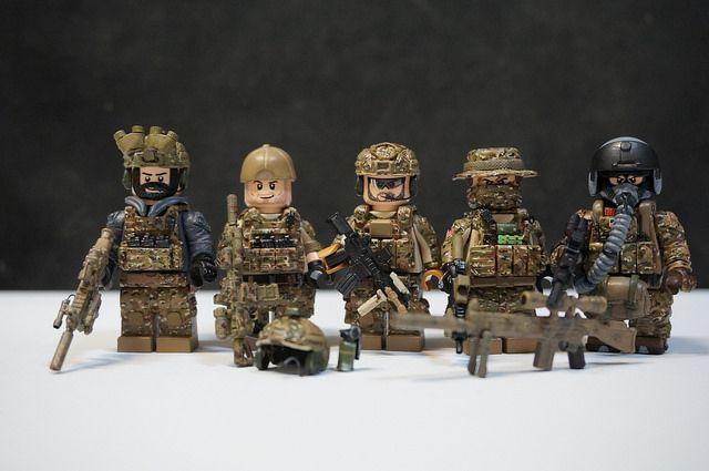 Navy Seal Team Custom Minifigures