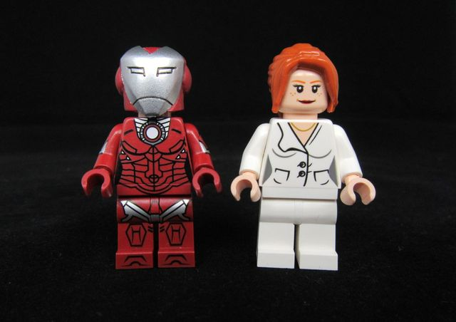 Pepper Potts & Rescue Armor Funny Brick Custom Minifigures