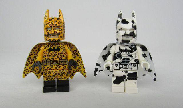 Dragon Brick Leopard & Cow Batman Custom Minifigures