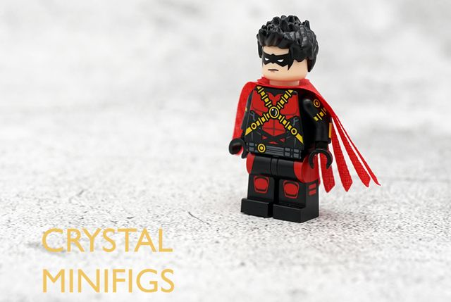 Crystal Minifigs Red Robin Custom Minifigure
