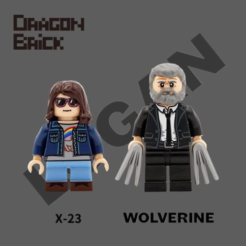 Dragon Brick Wolverine and X-23 Custom Minifigure