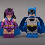 Huntress & Batman Painted Custom Minifigures