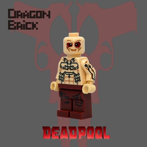 Dragon Brick Deadpool Custom Minifigure