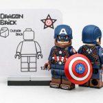 Dragonbrick Captain America Custom Minifigure
