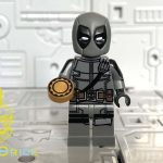 MaxBrick Grey Deadpool Custom Minifigure