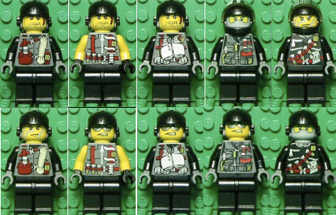 Minifig combinations