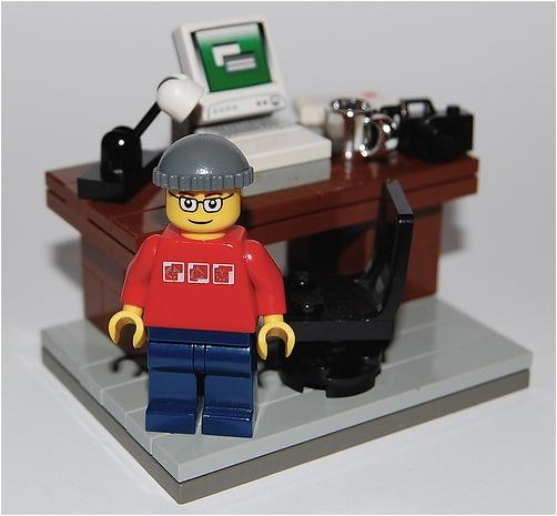 Lego custom minifig Blogger