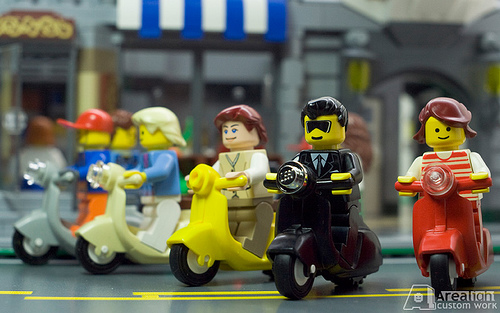 Arealights Custom minifig scooters