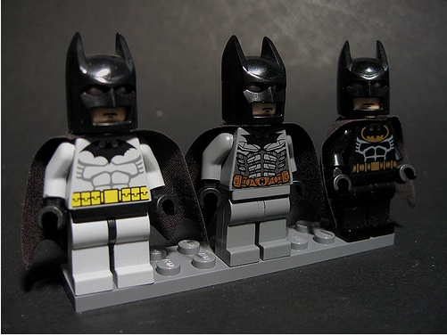 Batman minifig suit comparison