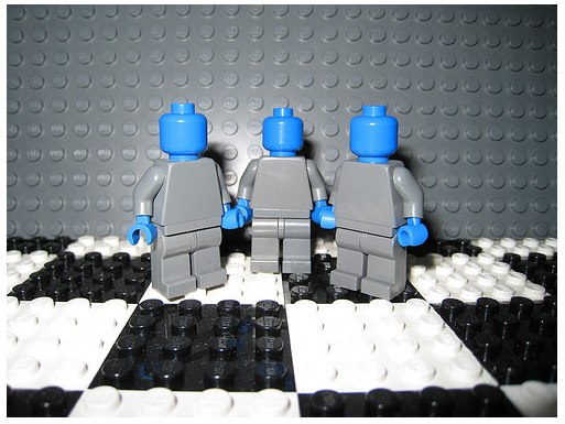 Blue Man group in Lego by icedpluscoffee