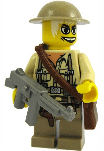 canadian trooper custom minifig by tedward