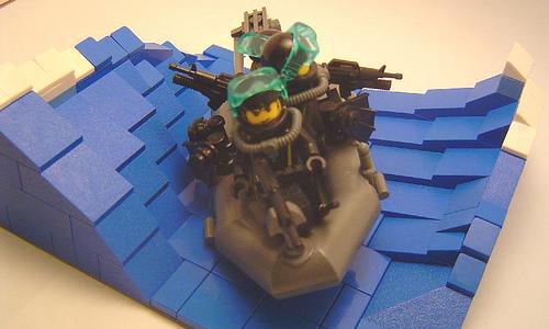 Lego custom minifig commando raid ship vignette