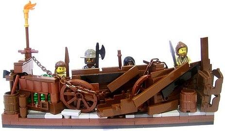 custom minifig barricade by Peter Lewandowski