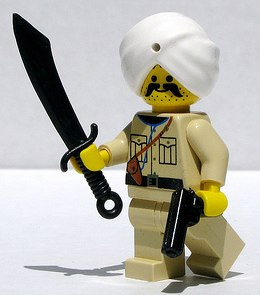 Indian army officer custom minifig by Dunechaser