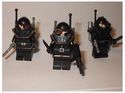 Jasbrick custom minifigs the Corporation Mad Dog Hvy Inf Kill Team