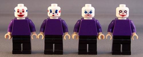 Joker Thug Squad Custom minifig Heads by thebigtoyhut