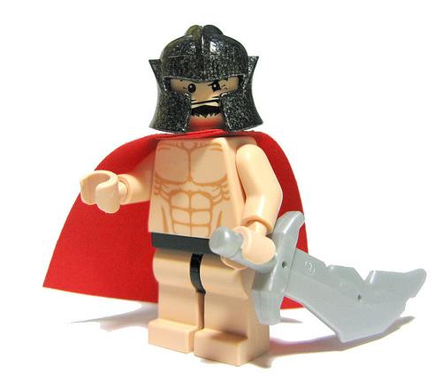 300 lego style King Leonidas custom minifig