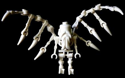 lego angel skeleton custom mini fig by brainbike rider