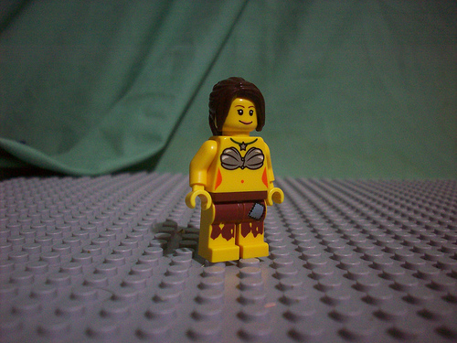Lego custom minifig female castaway by doctorkile